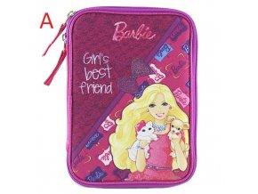Školní penál | XXL | s náplní | Barbie