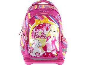 Školní batoh | dvoukomorový | Barbie | růžový