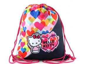 Sportovní vak Target Hello Kitty, barevná srdce
