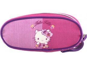 Školní penál | elipsovitý | Hello Kitty | růžový