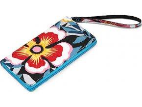 Peněženka Reisenthel Modrá s květinovým vzorem | wallet 1 flower