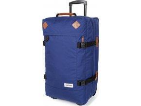 Cestovní taška | na kolečkách | s koženými doplňky