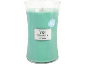 Svíčka | oválná váza | WoodWick | Jarní déšť | 610g