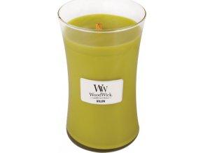 Svíčka | oválná váza | WoodWick | Vrbové květ | 610g