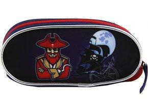Školní penál Target Pirates, barva modrá