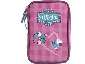 Školní penál Target Summer Love, barva růžová
