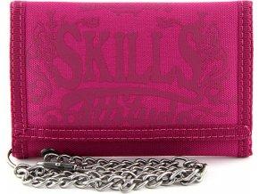 Peněženka 7Skills Růžová s řetízkem