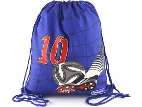 Sportovní vak Target Goal 10, kopačka s míčem, modrá