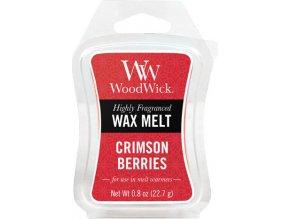 Vonný vosk WoodWick Červená jeřabina, 6 x 22.7 g