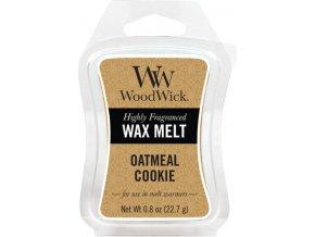 Vonný vosk WoodWick Ovesné sušenky, 6 x 22.7 g