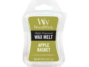 Vonný vosk WoodWick Košík jablek, 6 x 22.7 g