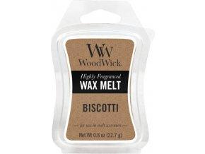 Vonný vosk WoodWick Piškoty, 6 x 22.7 g