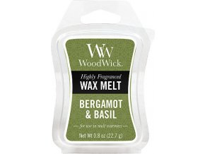 Vonný vosk | WoodWick | Bergamot a bazalka | 6 x 23g