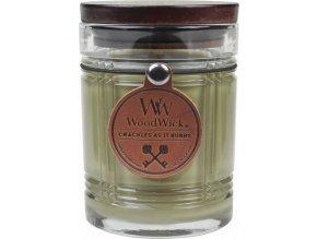 Svíčka | skleněná váza | WoodWick | Vanilka | 227g
