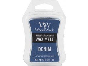 Vonný vosk WoodWick Džínovina, 6 x 22.7 g