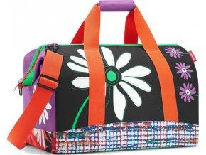 Taška cestovní Reisenthel Květiny s barevnými proužky L