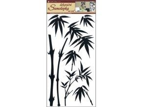 Samolepky na zeď bambus černý 69x32 cm