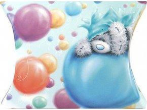 Dárková krabička | Me to You | balónky | 9x9cm