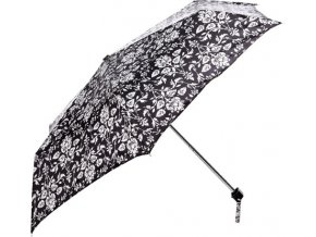 Deštník | Fulton | Černý s bílými květy