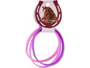 Náramky | Horses Dreams | růžová, tmavě fialová, fialová