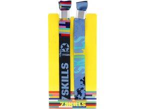 Náramek 7Skills Set 2 ks - festivalový s permanentní sponou, modrý a šedý