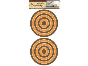 Samolepky na zeď kruhy oranžovohnědé 69x32 cm