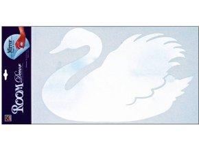 Samolepky na zeď labuť zrcadlová 69x32cm