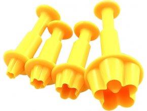 Smart Cook Vypichovač pístový 3ks květina plastový žlutý