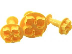 Smart Cook Vypichovač 3 ks čtyřlístek plastový žlutý