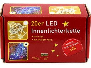 Světelný řetěz | Idena | vnitřní | LED | barevný | 3,4m