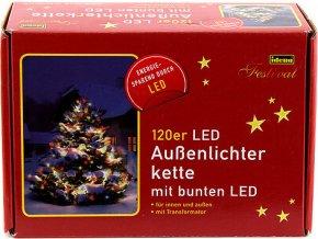 Světelný řetěz Idena vnitřní/venkovní, LED, barevný, 20m