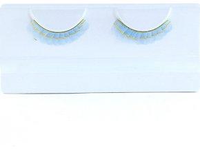 Řasy Eulenspiegel Řasy - Pastelově modré se zlatými pásky