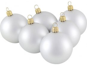 Vánoční ozdoba Europalms stříbrné, 6cm
