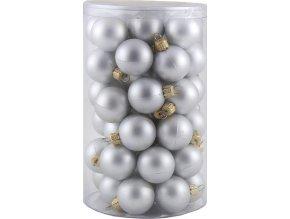 Vánoční ozdoba Europalms Vánoční dekorační ozdoby, 3,5 cm, stříbrná metalíza, 48 ks