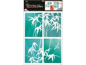 Samolepky na zeď bambus modrý 70x42cm