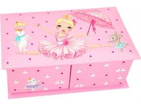 Šperkovnice My Style Princess Princezna baletka, světle růžová