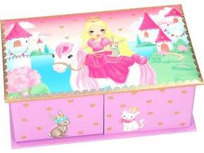 Šperkovnice My Style Princess Princezna na koni, světle růžová