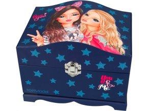 Šperkovnice Top Model Miju a Candy, barva tmavě modrá
