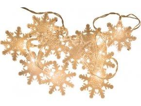 LED | světelný řetěz | Idena | Sněhové vločky | 10ks