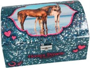 Šperkovnice | Horses Dreams | modrá nebo růžová