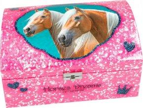 Šperkovnice Horses Dreams Best friends, růžová