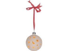 Dekorační koule Idena s 10 LED žárovkama, 150 cm dlouhé poutko k zavěšení