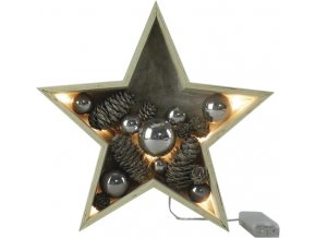 Dekorační hvězda | Idena | rozměr 28 x 6,5cm