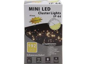 Vánoční řetěz | Idena | 192x LED dioda | celková délka 1,5m | teplé bílé světlo