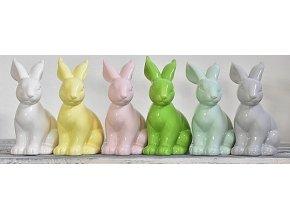 Zajíc|porcelánový|mix barev|18cm