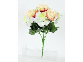 Květina umělá | růže | puget | 35x25cm