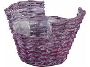 Proutěný košík fialový