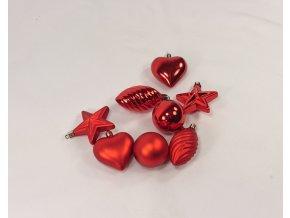 Vánoční ozdoby červené | 5 druhů