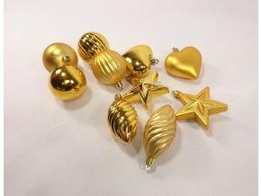 Vánoční ozdoby zlaté | 5 druhů
