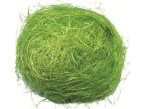 Dekorační sisal zelený 30g